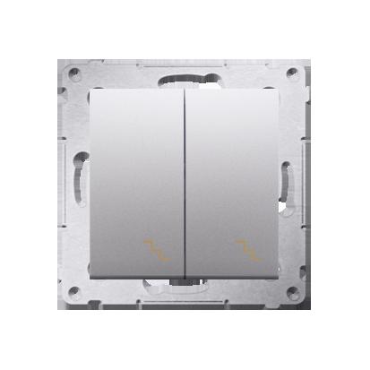 Kontakt Simon 54 Premium Stříbrná Vypínač schodišťový dvojnásobný (modul) šroubové koncovky, DW6/2.01/43