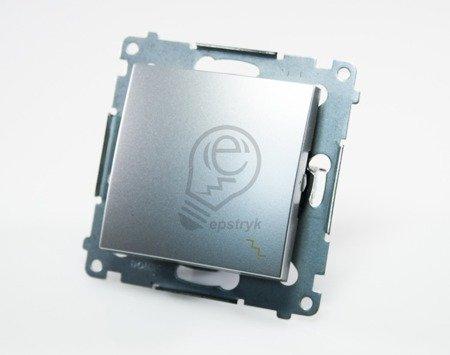 Kontakt Simon 54 Premium Stříbrná Vypínač schodišťový (modul) rychlospojka, DW6.01/43