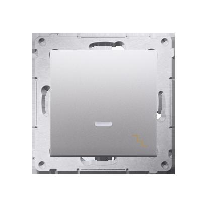Kontakt Simon 54 Premium Stříbrná Vypínač schodišťový s podsvícením LED (modul) rychlospojka, DW6L.01/43