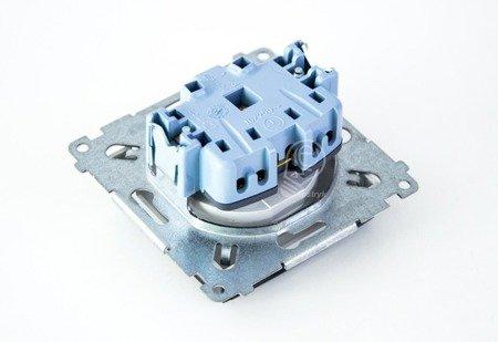 Kontakt Simon 54 Premium Stříbrná Zásuvka pro verzi IP44 klapka transp, DGZ1BUZ.01/43A