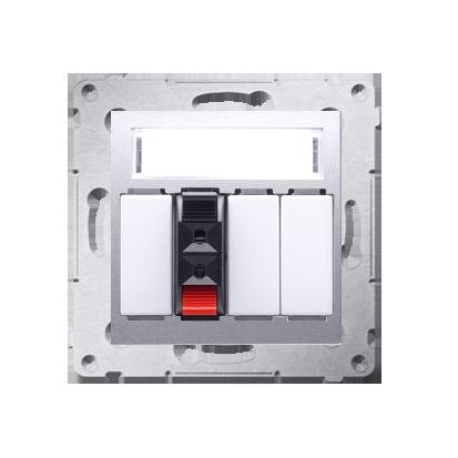 Kontakt Simon 54 Premium Stříbrná Zásuvka reproduktoru 1-násobná s popisovým pólem (modul) DGL31.01/43
