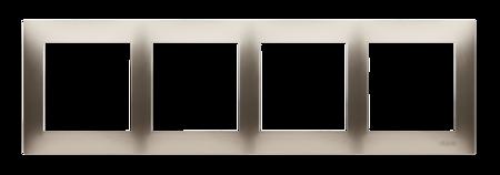Kontakt Simon 54 Premium Zlatá Rámeček 4-násobný univerzální IP20/IP44, DR4/44