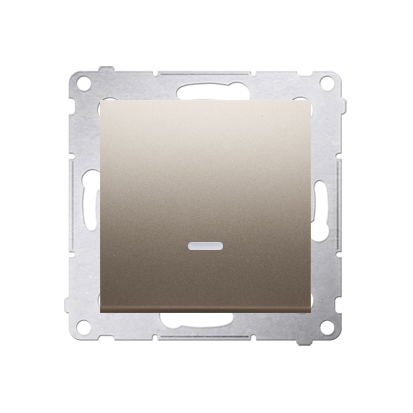 Kontakt Simon 54 Premium Zlatá Tlačítko jednopólové zkratovací s podsvícením LED bez pikt. X šroubové koncovky, DP1AL.01/44
