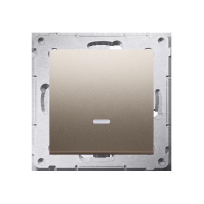 Kontakt Simon 54 Premium Zlatá Vypínač jednonásobný s podsvícením LED (modul) rychlospojka, DW1L.01/44