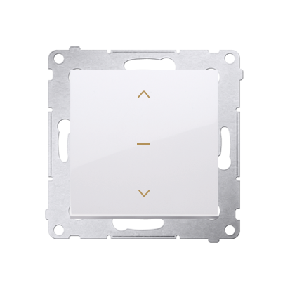 Kontakt Simon 54 Premium bílý DZW1K.01/11 Vypínač žaluzii třípolohový 1-0-2 (modul) bílý