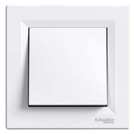Křížový vypínač s rámečkem, bílá Schneider Electric Asfora EPH0500121