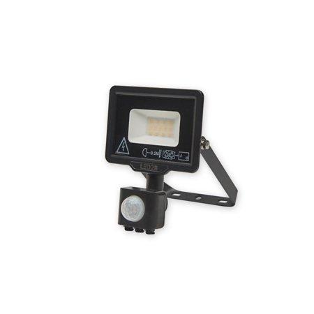 LED reflektor s čidlem pohybu MHC 10W 6000K 800lm černý IP44 Kobi