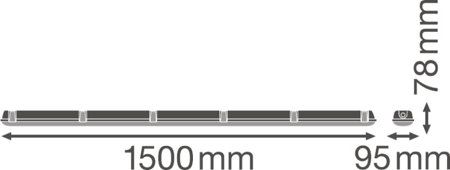 Lineární LED svítidlo 1500 55W 4000K IP65 DAMPPROOF LEDVANCE