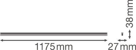 Lineární svítidlo LINEAR COMPACT BATTEN 1200 20W 3000K LEDVANCE