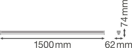 Lineární svítidlo LINEAR ULTRA OUTPUT 1500 60W 3000K LEDVANCE