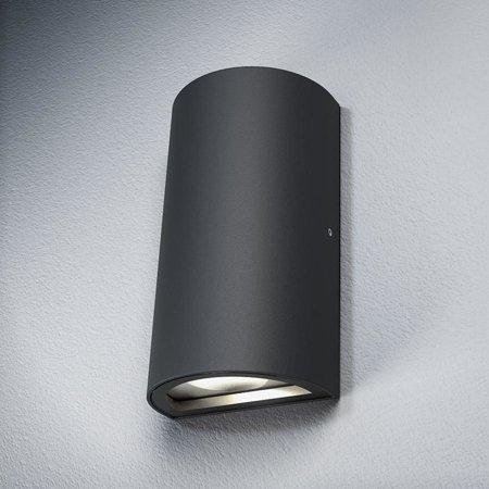 Nástěnné fásadní svítidlo 12W 3000K IP54 OUTDOOR FACADE UPDOWN Gray LEDVANCE