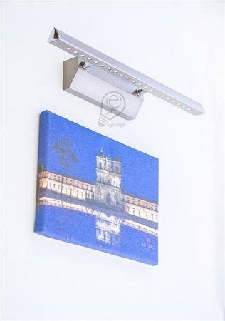 Obrazová lampa, nad zrdcadlo Riton, nerezová ocel 40cm