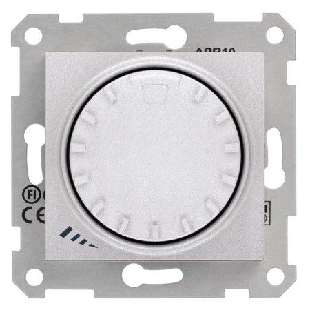 Otočný - tlačítkový stmívač hliník RL 1000VA/600W Sedna SDN2200960 Schneider Electric