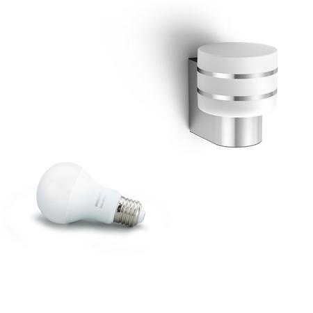 Philips Hue Nástěnná lampa exteriérová inox Tuar 9,5W 1740447P0