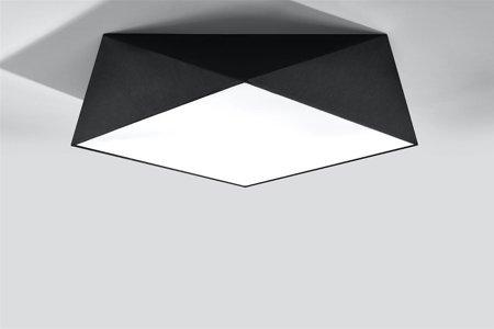 Plafon HEXA 45 černá E27 SL.0693 Sollux