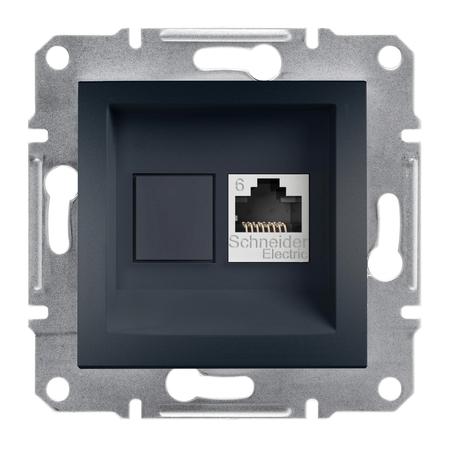 Počítačová zásuvka kat.6 UTP bez rámečku, antracit Schneider Electric Asfora EPH4700171