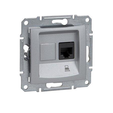 Počítačová zásuvka kategorie 5e stíněná hliník Sedna SDN4500160 Schneider Electric