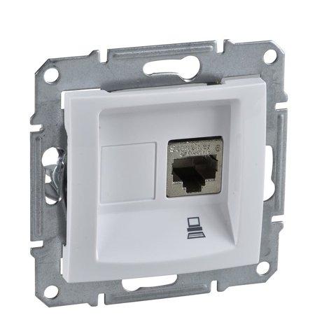 Počítačová zásuvka kategorie 6 stíněná bílá Sedna SDN4900121 Schneider Electric