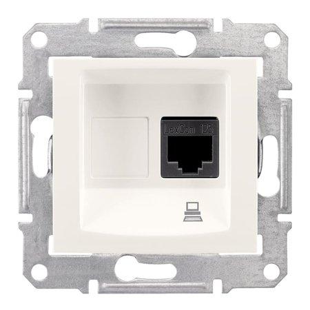 Počítačová zásuvka kategorie 6 stíněná krémová Sedna SDN4900123 Schneider Electric
