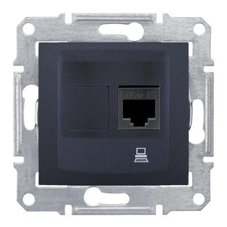 Počítačová zásuvka kategorie5e stíněná grafitová Sedna SDN4500170 Schneider Electric