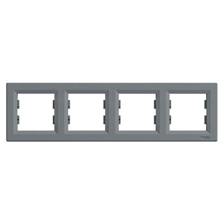 Rámeček 4-násobný vodorovný, ocel Schneider Electric Asfora EPH5800462