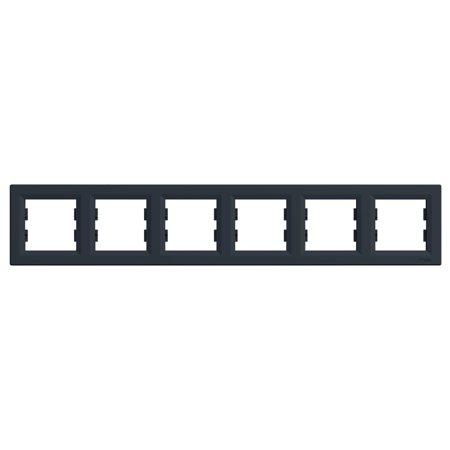 Rámeček 6-násobný vodorovný, antracit Schneider Electric Asfora EPH5800671