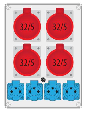 Rozváděč R-BOX 300 4x32A/5P, 4x250V B.18.3151 Pawbol