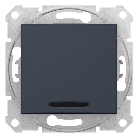 Schodišťové tlačítko s podsvícením, grafitová Sedna SDN1520170 Schneider Electric