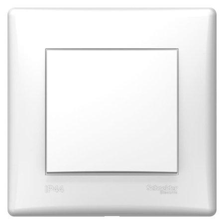 Schodišťový vypínač IP 44 bílá s rámečkem Sedna SDN0490421 Schneider Electric
