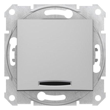 Schodišťový vypínač s podsvícením hliník Sedna SDN1500160 Schneider Electric