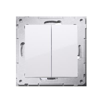 Simon 54 Premium Bílý Přepínač sériový (modul) X šroubové koncovky, DW5A.01/11