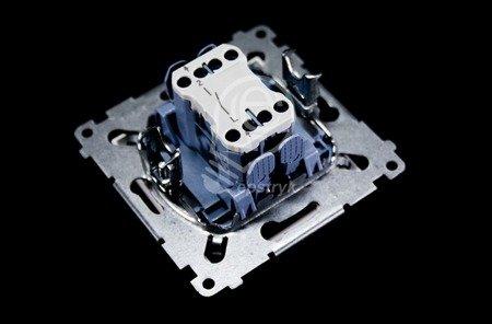 Simon 54 Premium Bílý Vypínač jednonásobný (modul) rychlospojka, DW1.01/11