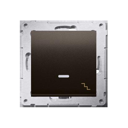 Simon 54 Premium Hnědá, matný Vypínač schodišťový s podsvícením LED (modul) X šroubové koncovky, DW6AL.01/46