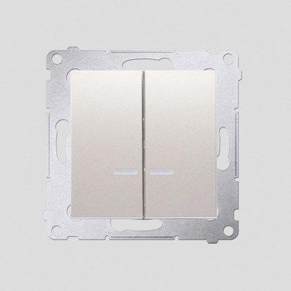 Simon 54 Premium Krémová Přepínač sériový s podsvícením LED, pro verzi IP44 DW5BL.01/41