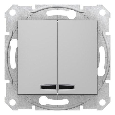 Spínač sériový s podsvícením hliník Sedna SDN0300360 Schneider Electric