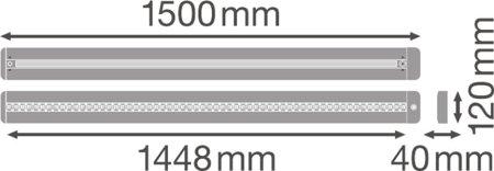 Stmívatelné svítidlo s čidlem pohybu LINEAR IndiviLED DIRECT/INDIRECT DALI 1500 56W 4000K LEDVANCE