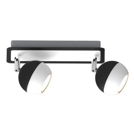 Stropní lampa černo-bílá Kombi GU10 2L Struhm