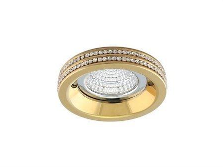 Stropní vestavné svítidlo Eva R zlatá Azzardo NC1519R-G