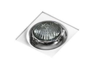 Stropní vestavné svítidlo Ivo hranaté hliník Azzardo GM21001S