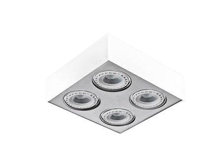 Svítidlo stropní Paulo 4 230V LED 7W stmívatelné bílá hliník Azzardo GM4400