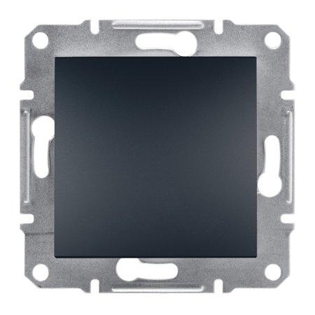Tlačítko 1-pólový bez rámečku, antracit Schneider Electric Asfora EPH0700171
