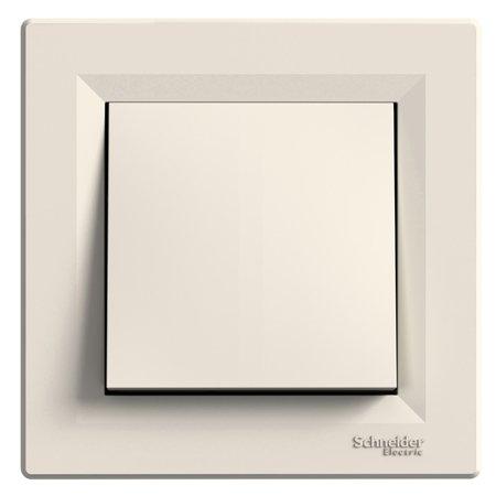 Tlačítko 1-pólový s rámečkem, krémová Schneider Electric Asfora EPH0700123