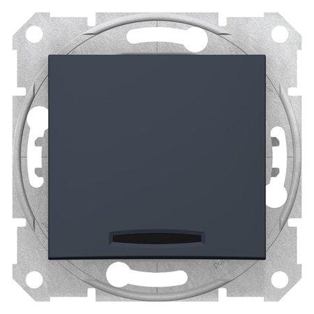 Tlačítko s podsvícením, grafitová Sedna SDN1600170 Schneider Electric