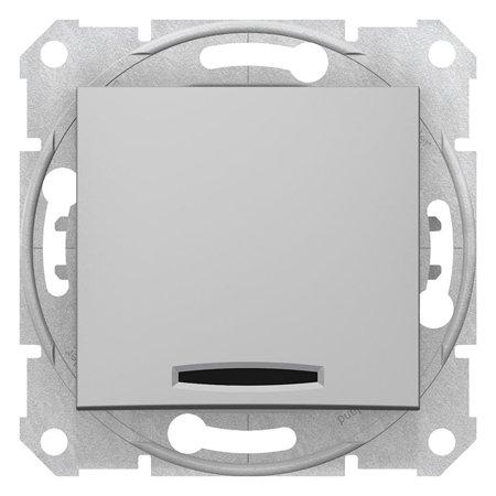 Tlačítko s podsvícením hliník Sedna SDN1600160 Schneider Electric