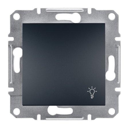 Tlačítko světlo bez rámečku, antracit Schneider Electric Asfora EPH0900171