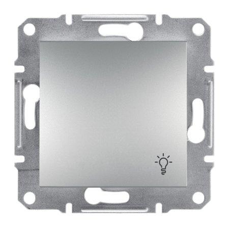 Tlačítko světlo bez rámečku, hliník Schneider Electric Asfora EPH0900161