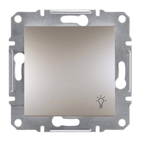 Tlačítko světlo bez rámečku, hnědá Schneider Electric Asfora EPH0900169