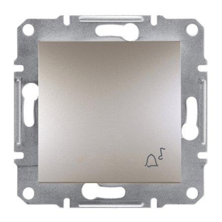 Tlačítko zvonek bez rámečku, hnědá Schneider Electric Asfora EPH0800169