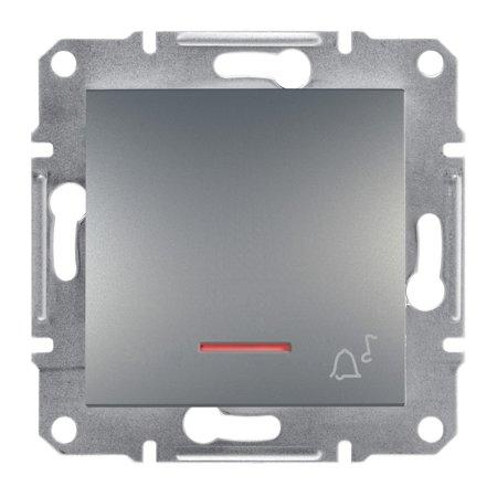 Tlačítko zvonek s podsvícením bez rámečku, ocel Schneider Electric Asfora EPH1700162