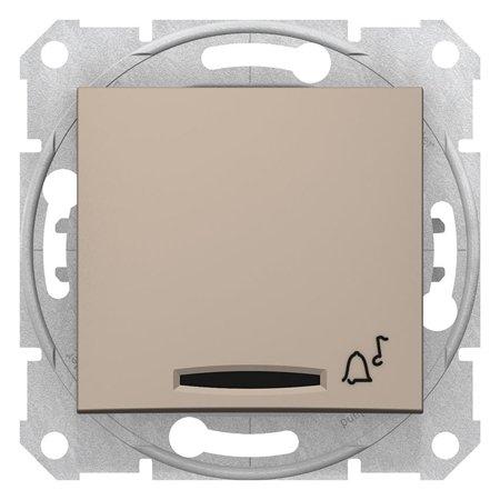 """Tlačítko """"zvonek"""" s podsvícením saténová Sedna SDN1600468 Schneider Electric"""